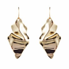Alexis Bittar Crumpled Gold Wire Earrings