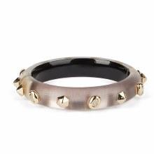 Alexis Bittar Studded Hinge Bracelet Rose Grey