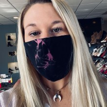Accessories Now Black Pink Smoke Mask
