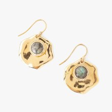 Chan Luu Gold Labradorite Drop Earrings