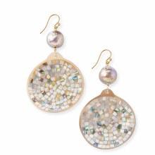 Chan Luu Pearl and Mosaic Drop Earrings