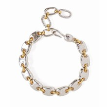 Chan Luu Gold and Silver Mix Puff Chain Bracelet