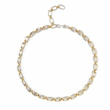 Chan Luu Gold and Silver Mix Puff Chain Necklace
