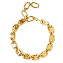Chan Luu Gold Puff Chain Bracelet