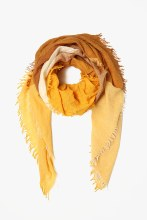 Chan Luu Color Block Wool Scarf Harvest Gold Mix