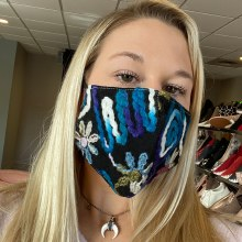 Accessories Now Black Crewel Mask