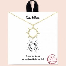 Good Feelings Shine & Burn Necklace