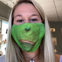 Accesories Now Grinch Face Mask