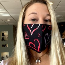 Accessories Now Black Love Hearts Mask