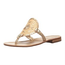 Jack Rogers Georgica Raffia Natural Gold
