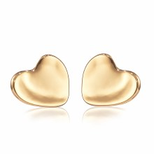 Jenny Bird Heart Earrings Gold