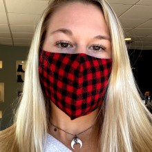 Accessories Now Buffalo Plaid Mask