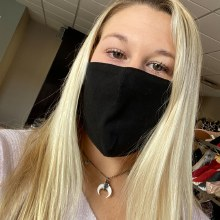 Accessories Now Solid Black Mask