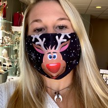 Accessories Now Red Nosed Reindeer Mask