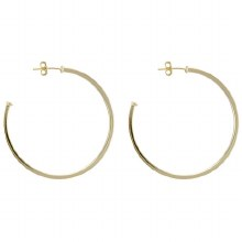Sheila Fajil Perfect Hoop Gold Polished