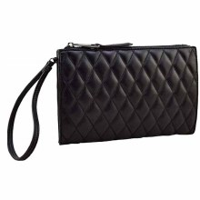Sondra Roberts Black Quilted Wristlet