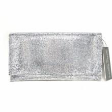 Sondra Roberts Silver Crystals Clutch