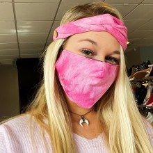 Accessories Now Tie Dye Mask with Headband