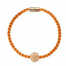 Tory Burch Kira Braided Bracelet Gold/Goldfinch/Orange