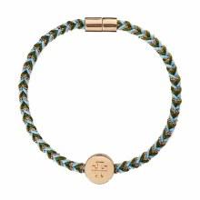 Tory Burch Kira Braided Bracelet Gold/Light Blue/Pesto