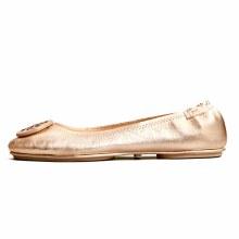 Tory Burch Minnie Travel Ballet Flat Rose Gold
