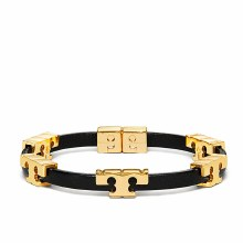 Tory Burch Serif-T Stackable Bracelet Black