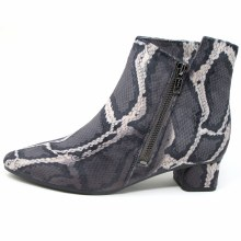 VANELi Liking Bootie Black Grey Velvet