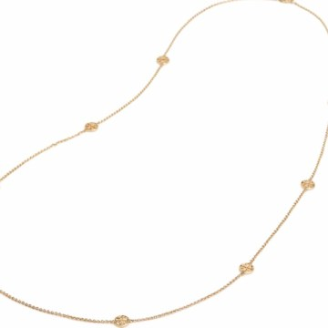 Tory Burch Delicate Logo Rosary Necklace