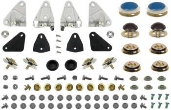 1968 Camaro & Firebird Door Glass Vent Window & Quarter Install Kit OE Quality!