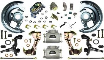 1969 Camaro  Manual Disc Brake Conversion Kit Single Piston & USA 2 Piece Rotors