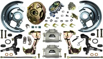 69 Camaro  Power Disc Brake Conversion Kit Single Piston & Import 2 Pc Rotors