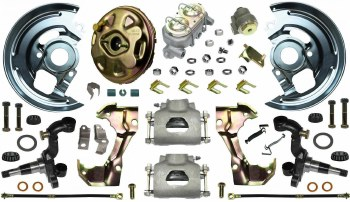 69 Camaro  Power Disc Brake Conversion Kit Single Piston Calipers & 1 Pc Rotors