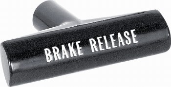 1967-72 Camaro & Firebird Parking Brake Handle Correct Font GM# 3893179