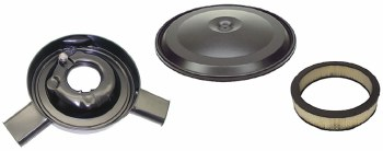 1970 1971 1972 Camaro Air Cleaner Assembly With Dual Snorkel & Black Lid