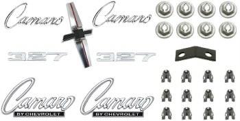 1968 Camaro Standard 327 Emblem Kit  OE Quality!