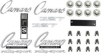 1968 Camaro Rally Sport 327 Emblem Kit  OE Quality!