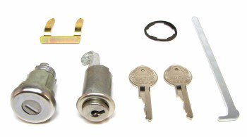 1968 Camaro & Firebird Glove Box Lock & Trunk Lock Kit & Original Keys