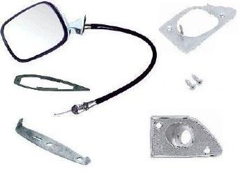 1969 Camaro & Firebird Remote Control Door Mirror Kit With Deluxe Interior