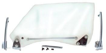 68 69 Camaro & Firebird Clear Door Glass & Window Track Assembly Kit  LH