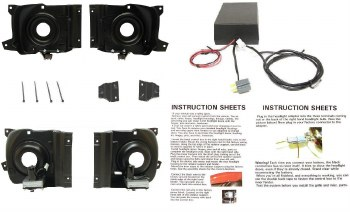 1969 Camaro Rally Sport System Electrical Conversion Headlight Bucket Kit