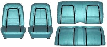 1967 Camaro Deluxe Interior Seat Cover Kit  OE Quality!  Turquoise