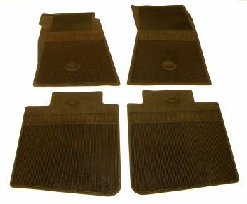 67 68 69  Camaro Bowtie Rubber Floor Mats Front & Rear OE Style  Black