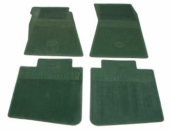 1969 Camaro Bowtie Rubber Floor Mats Front & Rear OE Style  Dark Green