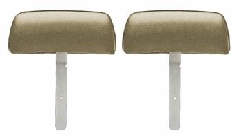 1969 Camaro & Firebird Bucket Seat Headrests w/Straight Bar OE Style Gold