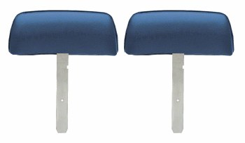 1969 Camaro & Firebird Bucket Seat Headrests w/Straight Bar OE Style Dark Blue
