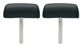 1969 Camaro & Firebird Bucket Seat Headrests w/Curved Bar OE Style Black