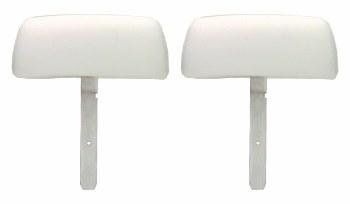 1969 Camaro & Firebird Bucket Seat Headrests w/Curved Bar OE Style White