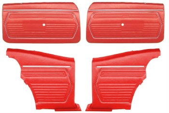 1969 Camaro Coupe Pre-Assembled Front & Rear Door Panel Kit  Red