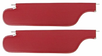 1968 Camaro & Firebird Coupe Sunvisors with Ribbed Pattern  Red pair