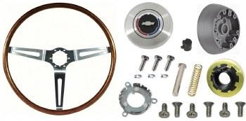 1967 1968 Camaro Walnut Wood Steering Wheel Kit